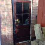Wooden Door replacement in Denby Village